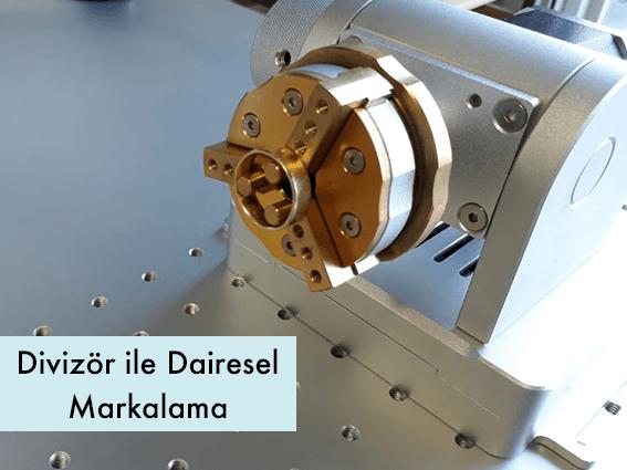 divizör-ile-dairesel-fiber-lazer-markalama-makinesi